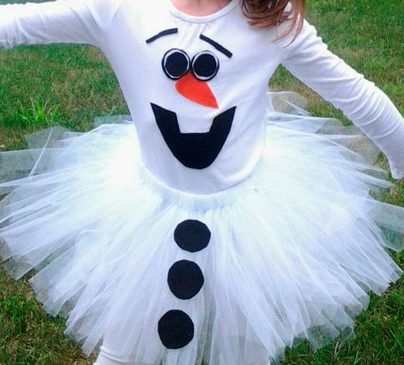 outro vestido Olaf