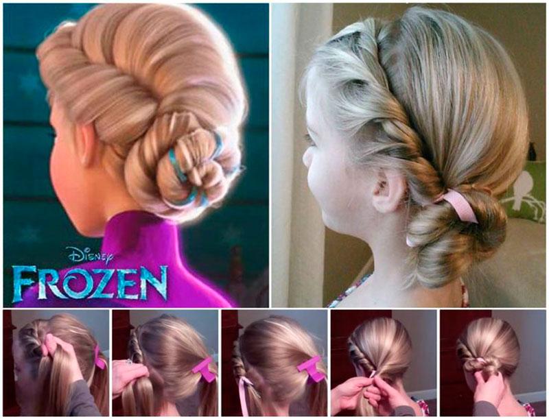 penteado Frozen
