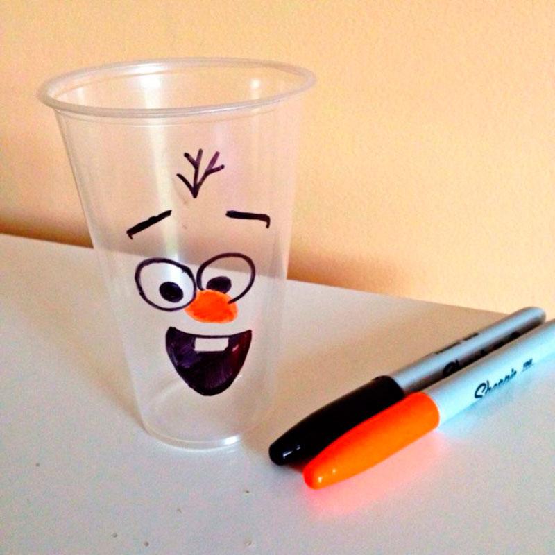 pintando o Olaf