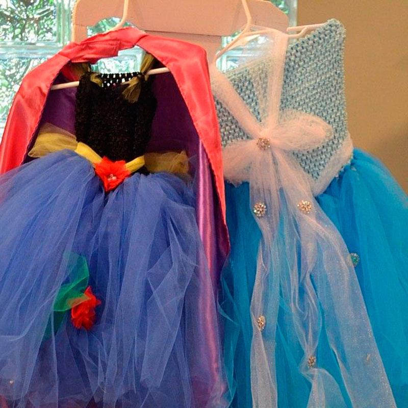 vestidos tema frozen 2