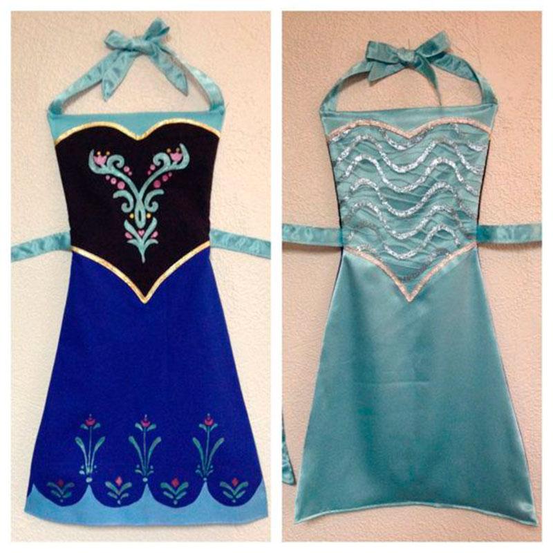 vestidos tema frozen