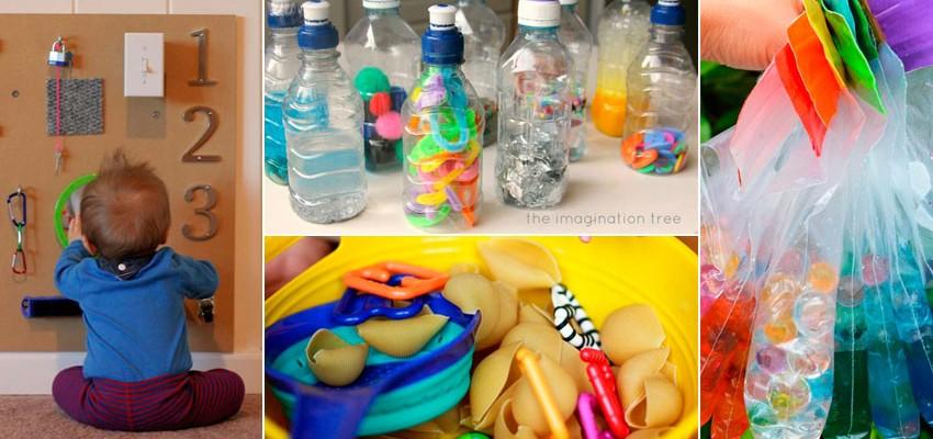 19 atividades para bebês gastando pouco