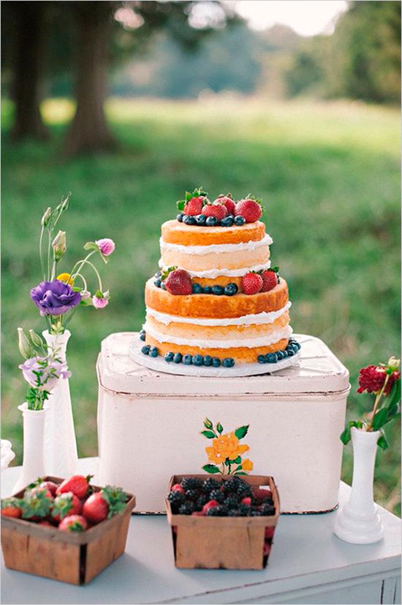 bolo para piquenique