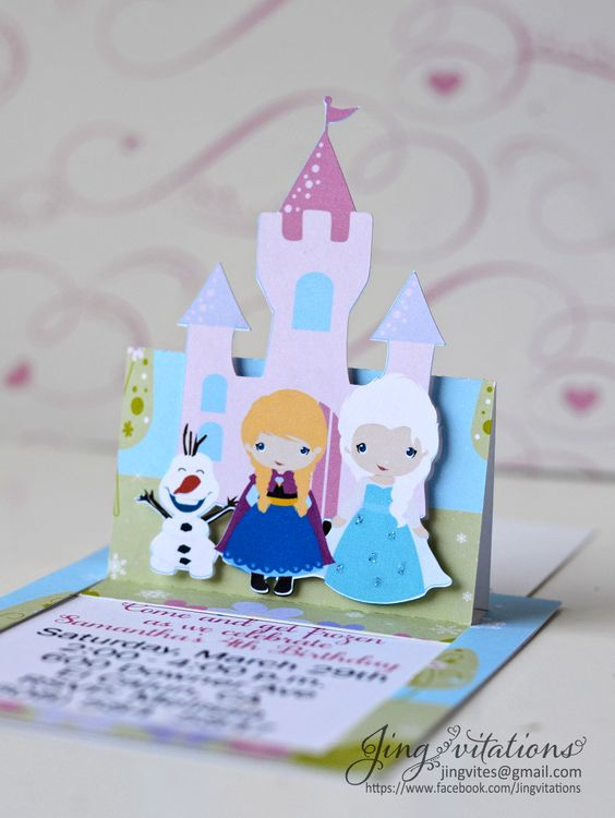 convite - festa frozen