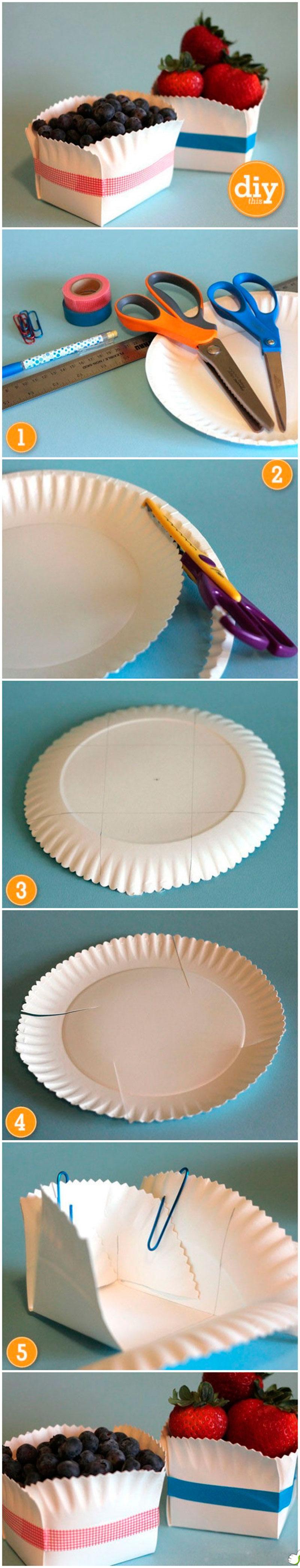 pote para frutas de papel