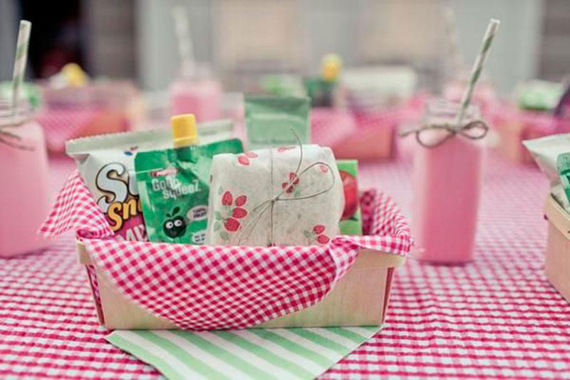 rosa e verde piquenique