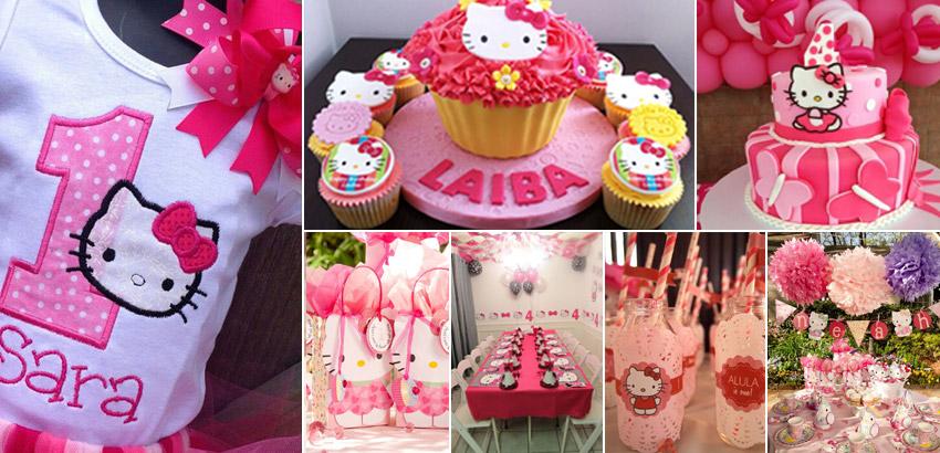 70 Inspirações de festas infantis da Hello Kitty