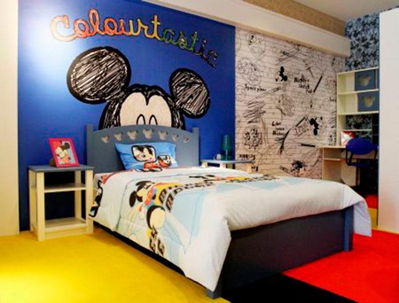 30 ideias de quarto infantil do mickey mouse dicas for Pegatinas pared habitacion ninos