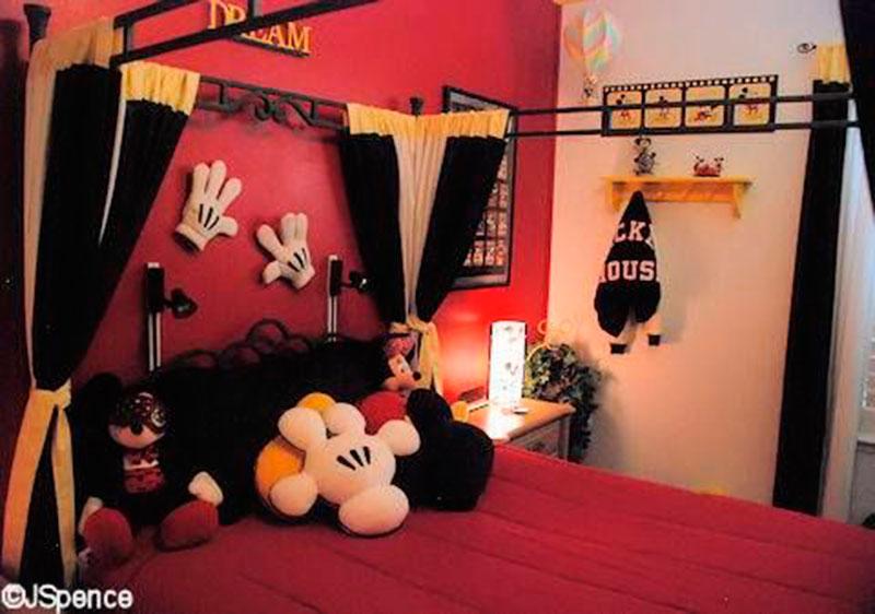 decor e cama do mickey