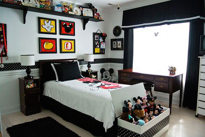 30 ideias de quarto infantil do mickey mouse dicas - Decoration mickey chambre ...