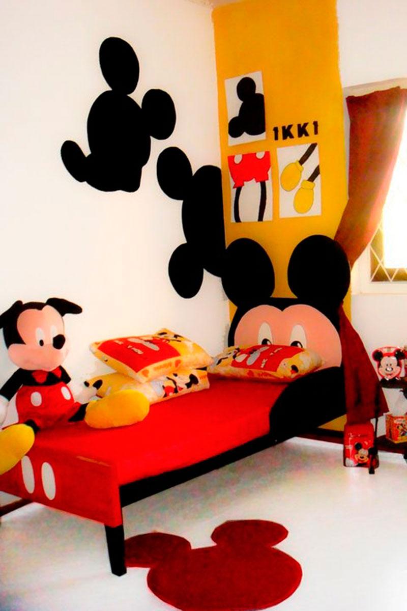 30 Ideias De Quarto Infantil Do Mickey Mouse Dicas ~ Coisas Para Enfeitar O Quarto E Cor Para Parede De Quarto