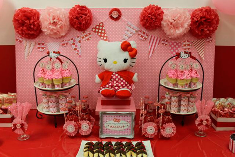decor simples hello Kitty