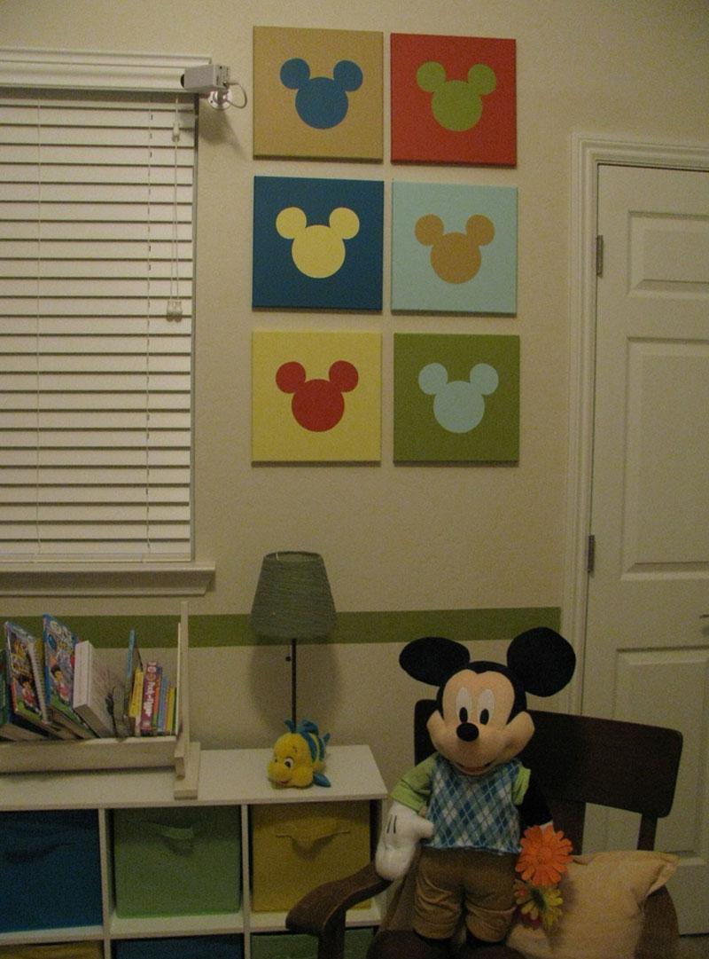 30 Ideias De Quarto Infantil Do Mickey Mouse Dicas ~ Decoração De Quarto Artesanal E Quarto Casal E Bebe Junto