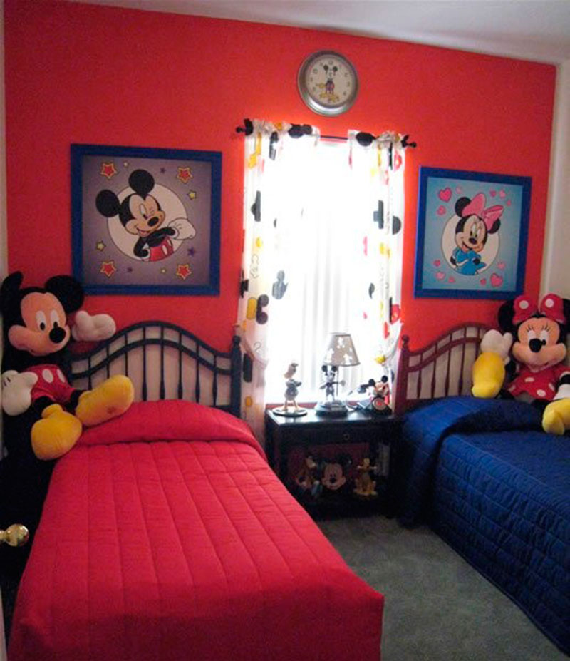 30 ideias de quarto infantil do mickey mouse dicas - Habitaciones infantiles unisex ...