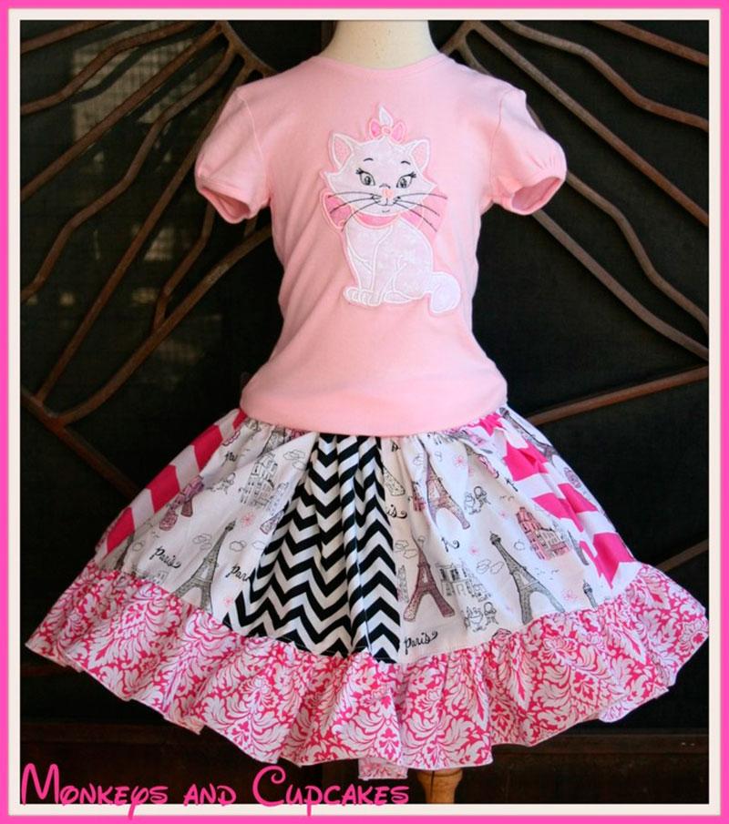 vestido da gata marie