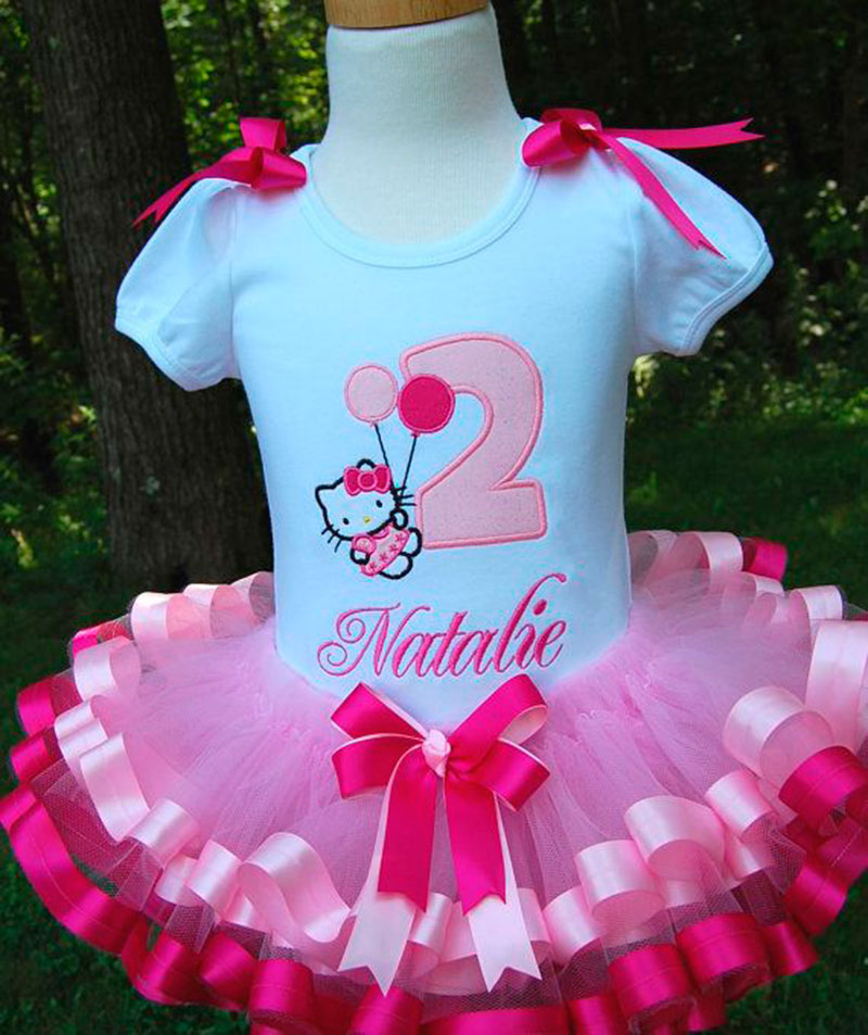 vestido da hello Kitty-rosa