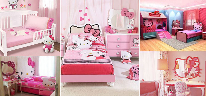 25 ideias de quarto infantil da Hello Kitty