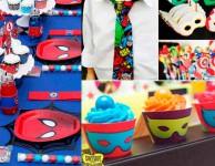Comparando o tema festa do Homem Aranha com tema festa dos Vingadores