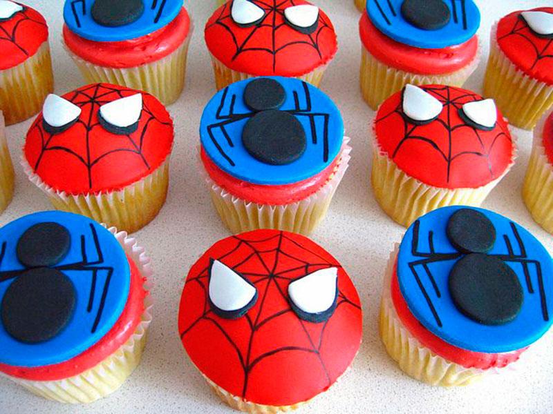 Cupcake-Homem Aranha