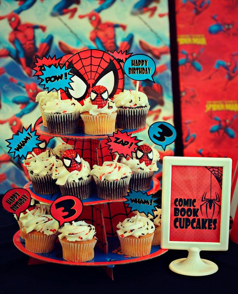 Cupcakes do Homem Aranha