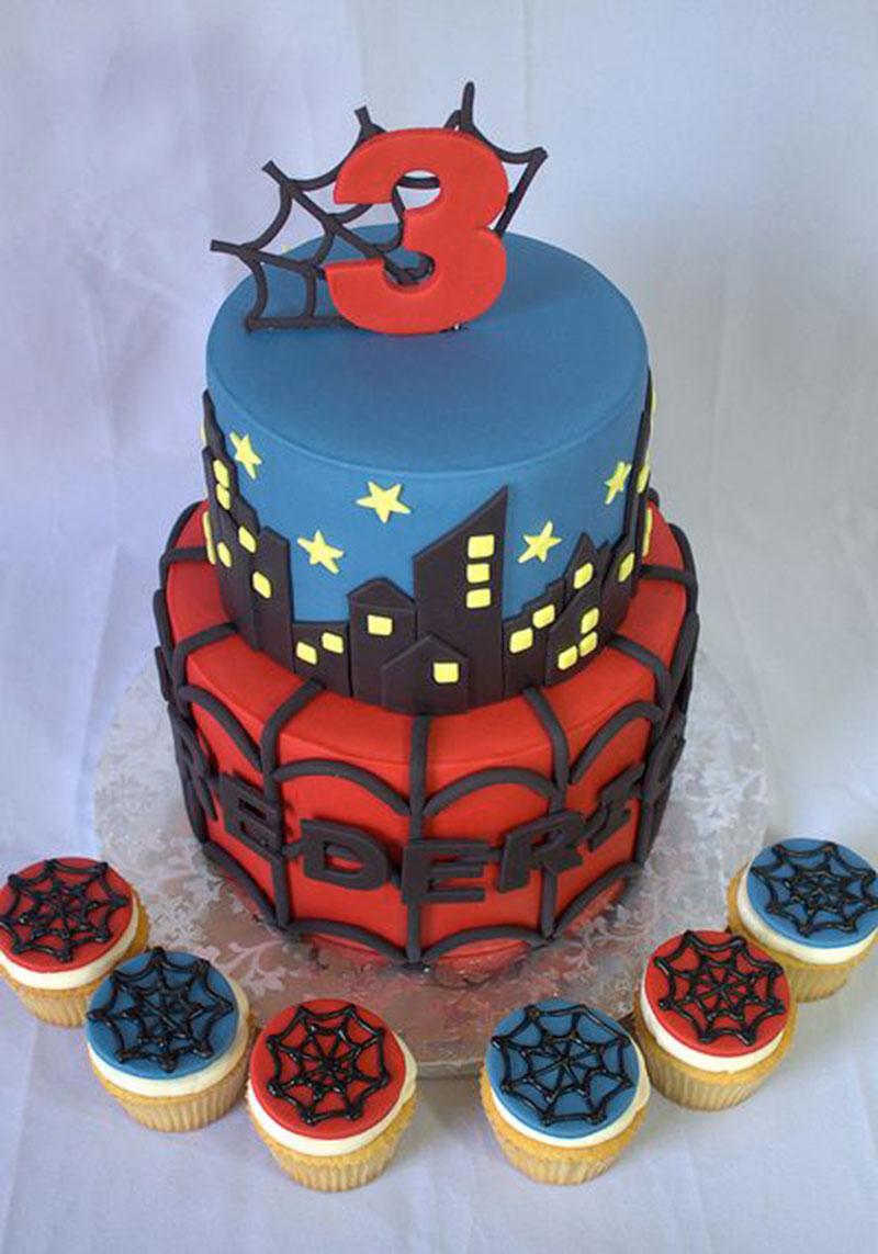 Homem Aranha e Cupcake