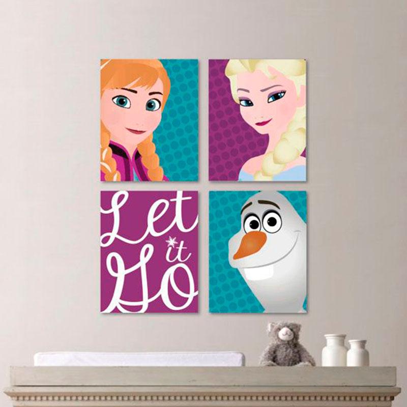 Tela Anna Elsa e Olaf