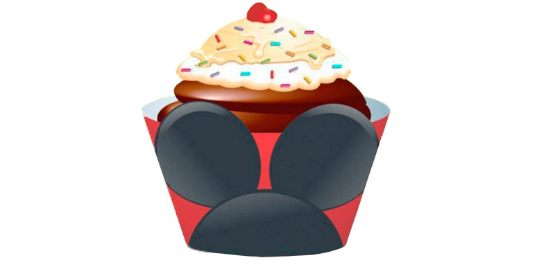 Wrapper Cupcake Mickey