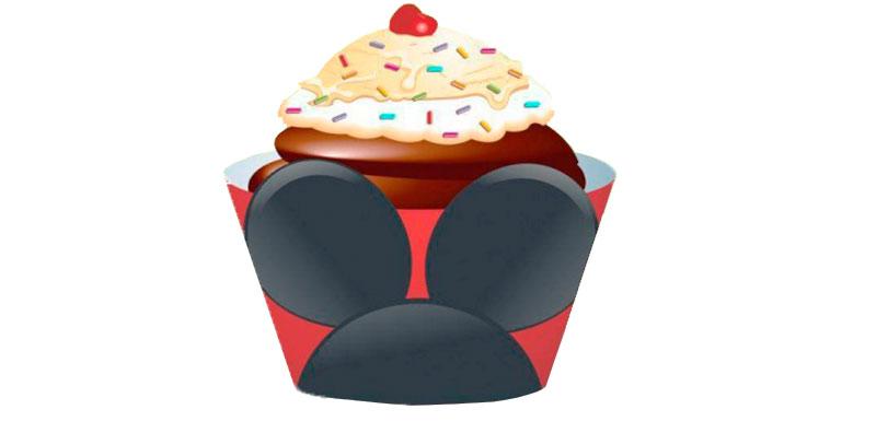 Wrapper Cupcake Mickey