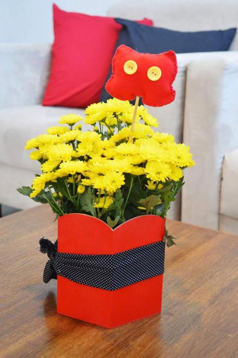 arranjo de flores do Mickey
