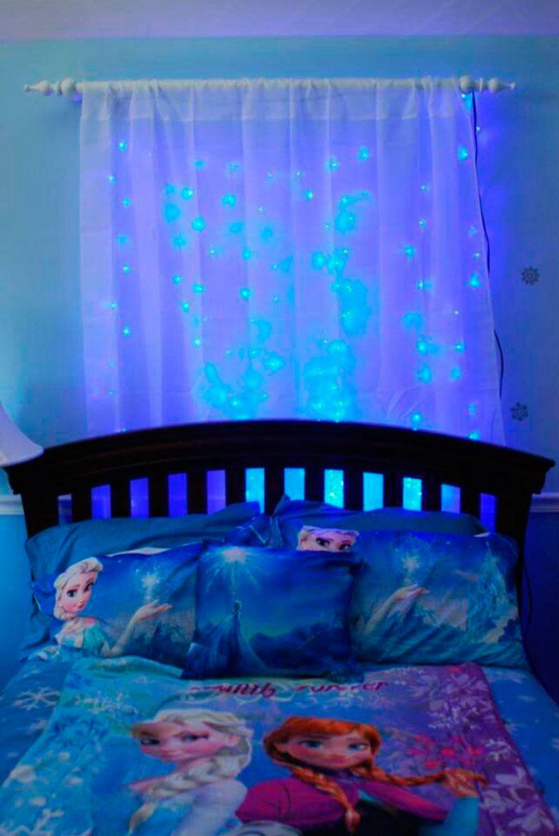 cortina com brilho-Frozen