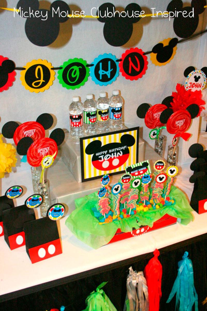 festa colorida Mickey