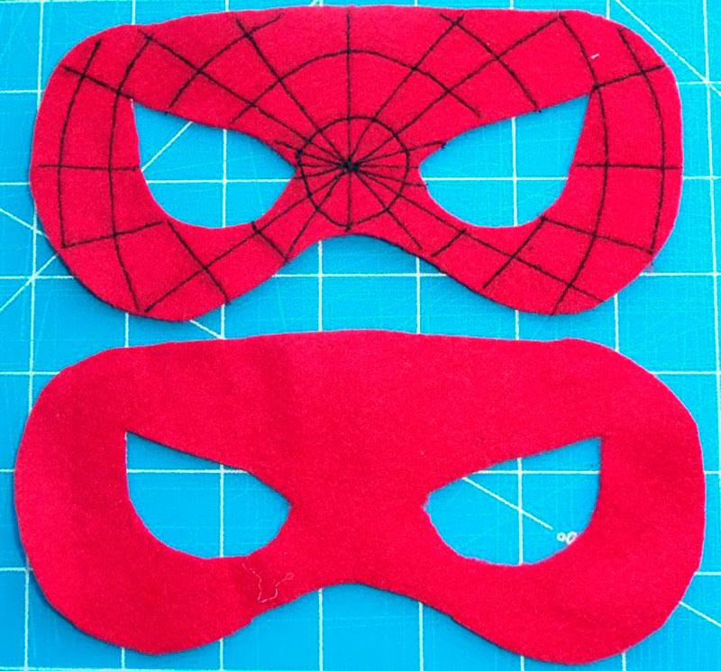 mascara do Homem Aranha