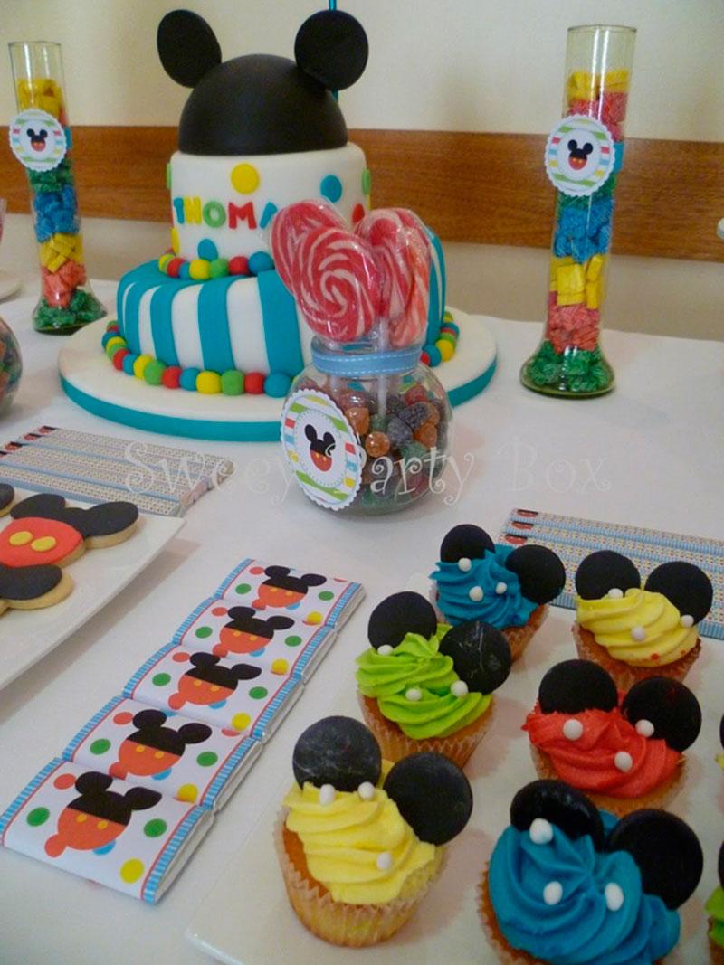 mesa colorida-festa Mickey
