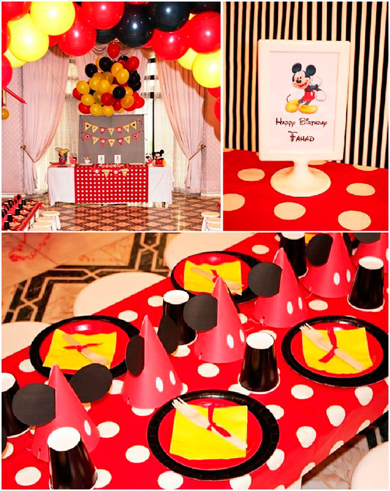 mesa para convidados mirins