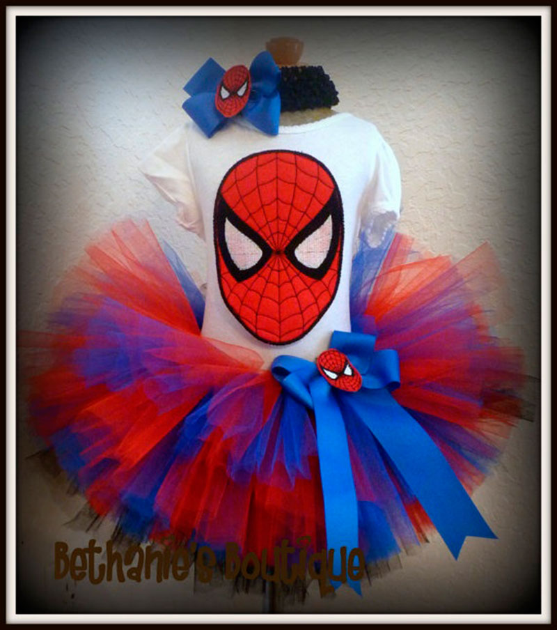vestido de menina Homem Aranha