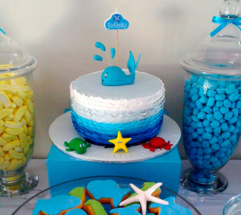 bolo festa Fundo do Mar