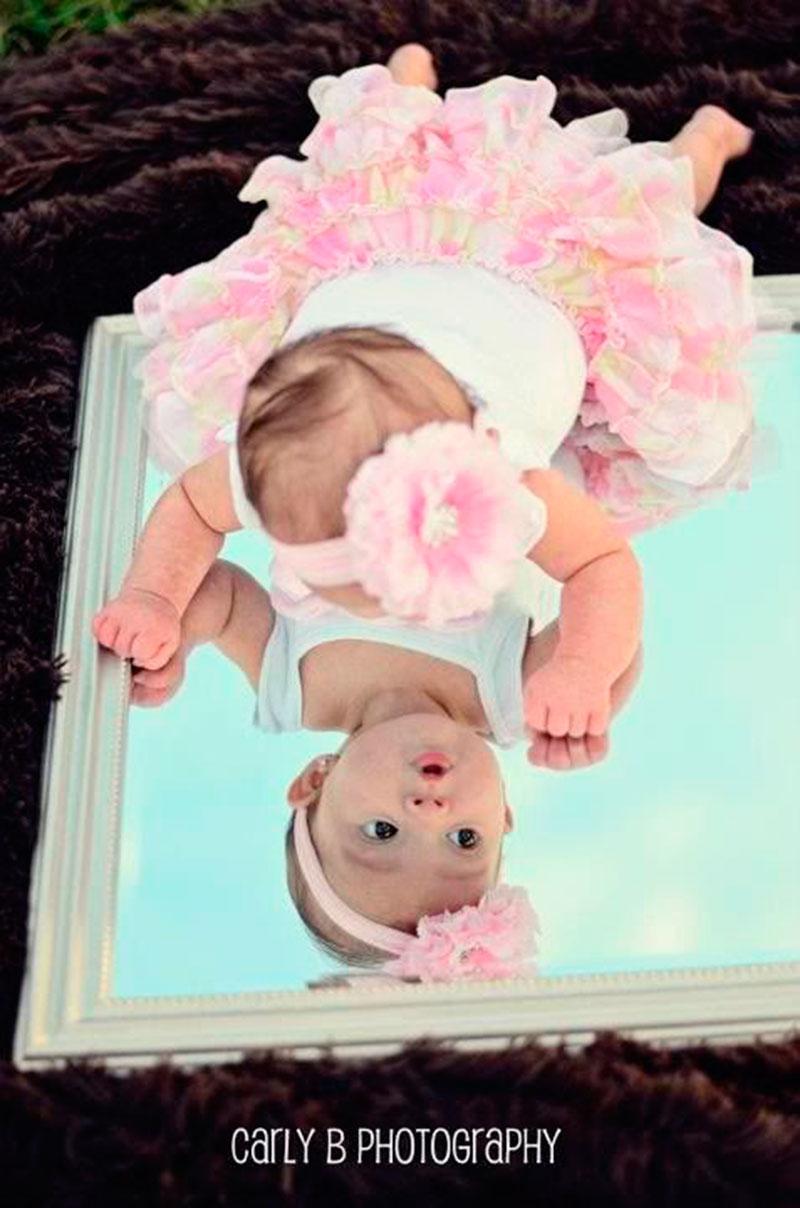 espelho e bebê