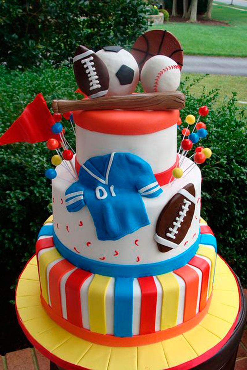 Basebol-bolo de festa infantil