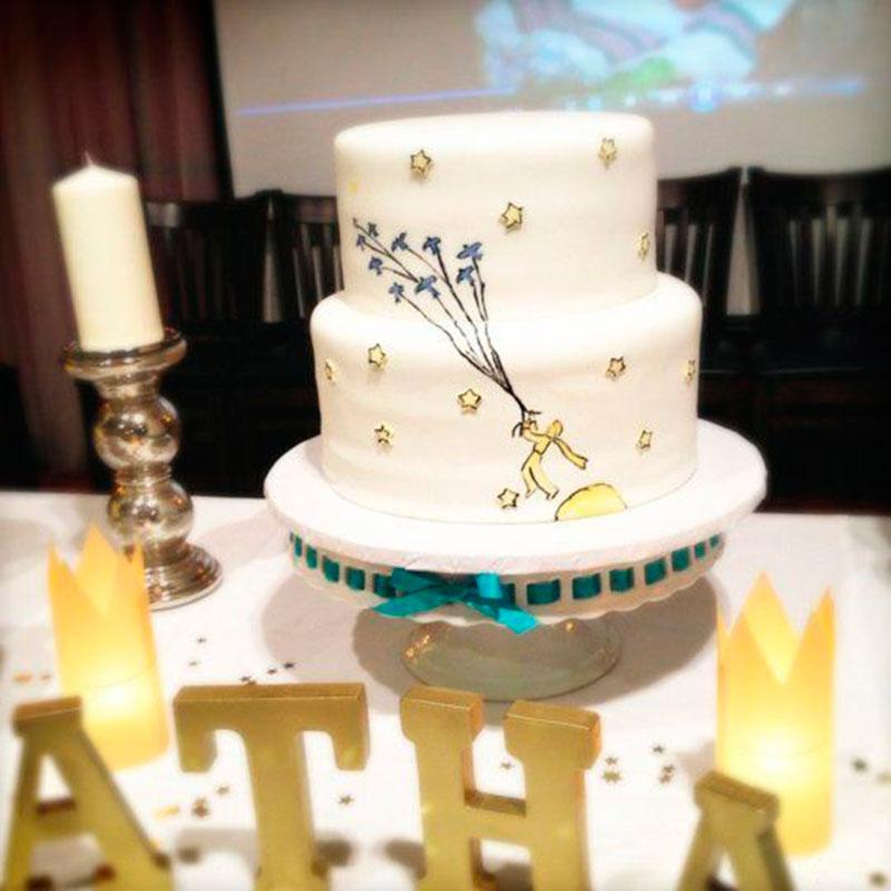 bolo branco 2 andares