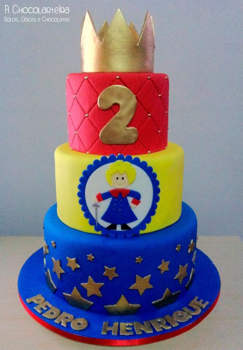 bolo colorido 3 andares