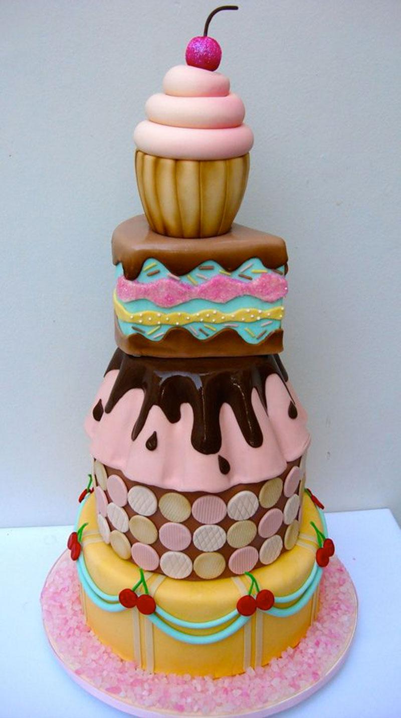 bolo de 5 andares