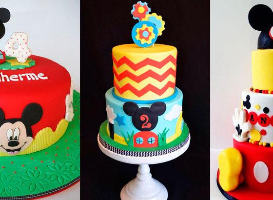 Festa do Mickey - 30 bolos decorados para festa infantil
