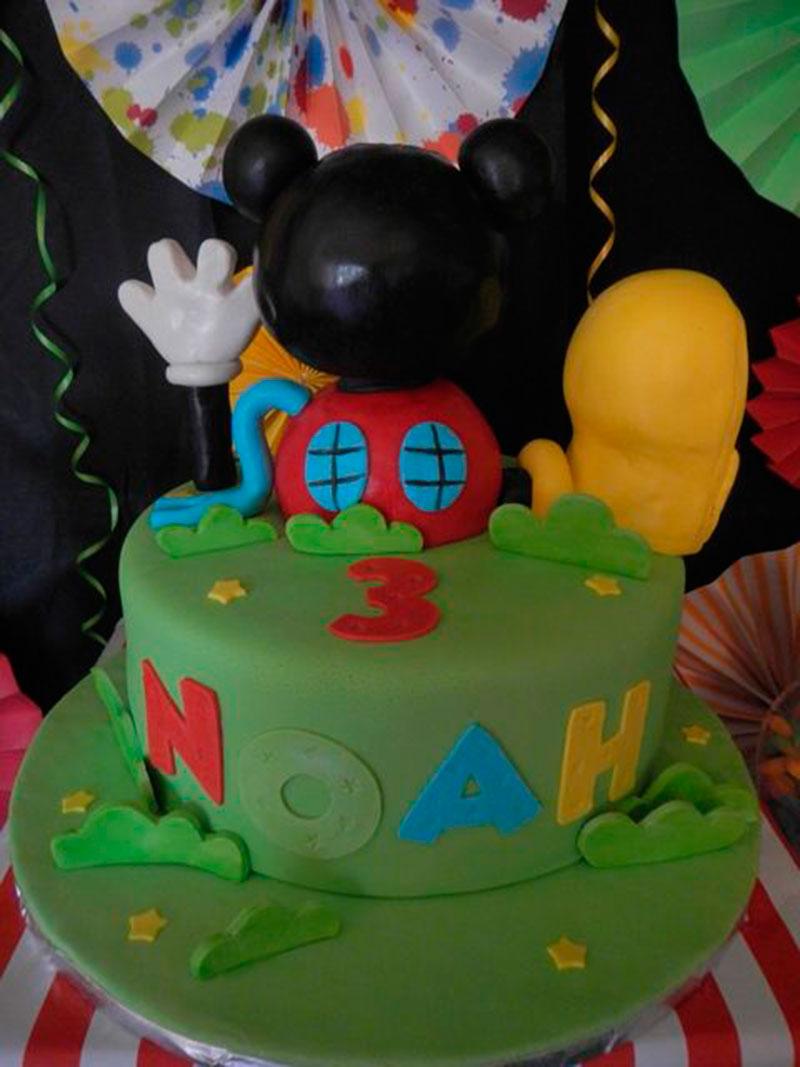 bolo de 3 aninhos Mickey
