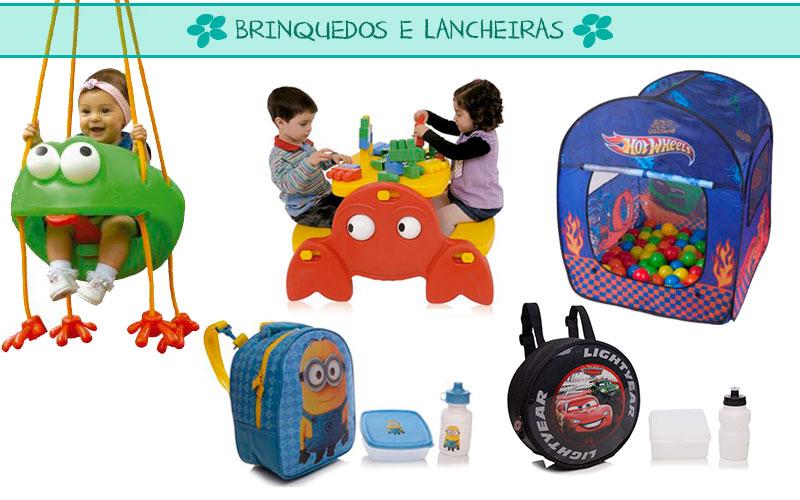lancheiras e brinquedos