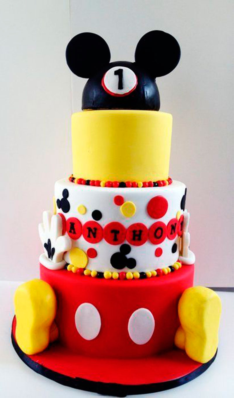 Mickey Mouse First Birthday Cake Topper