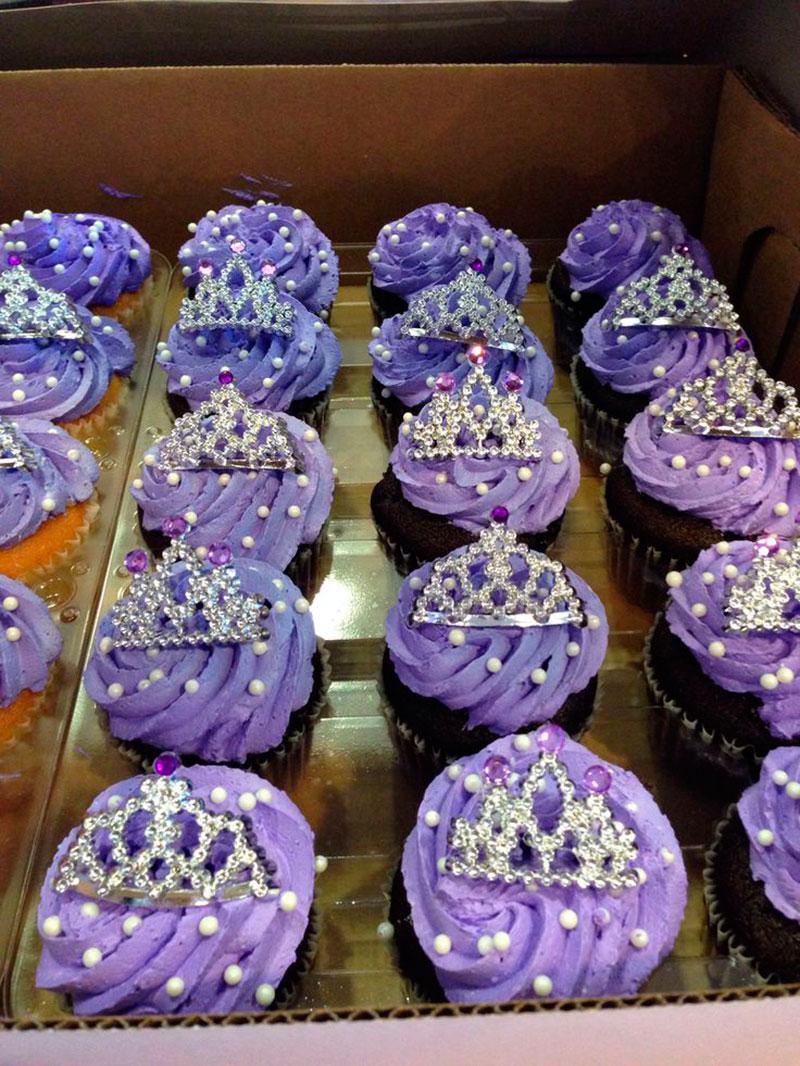 cupcake da princesa sofia