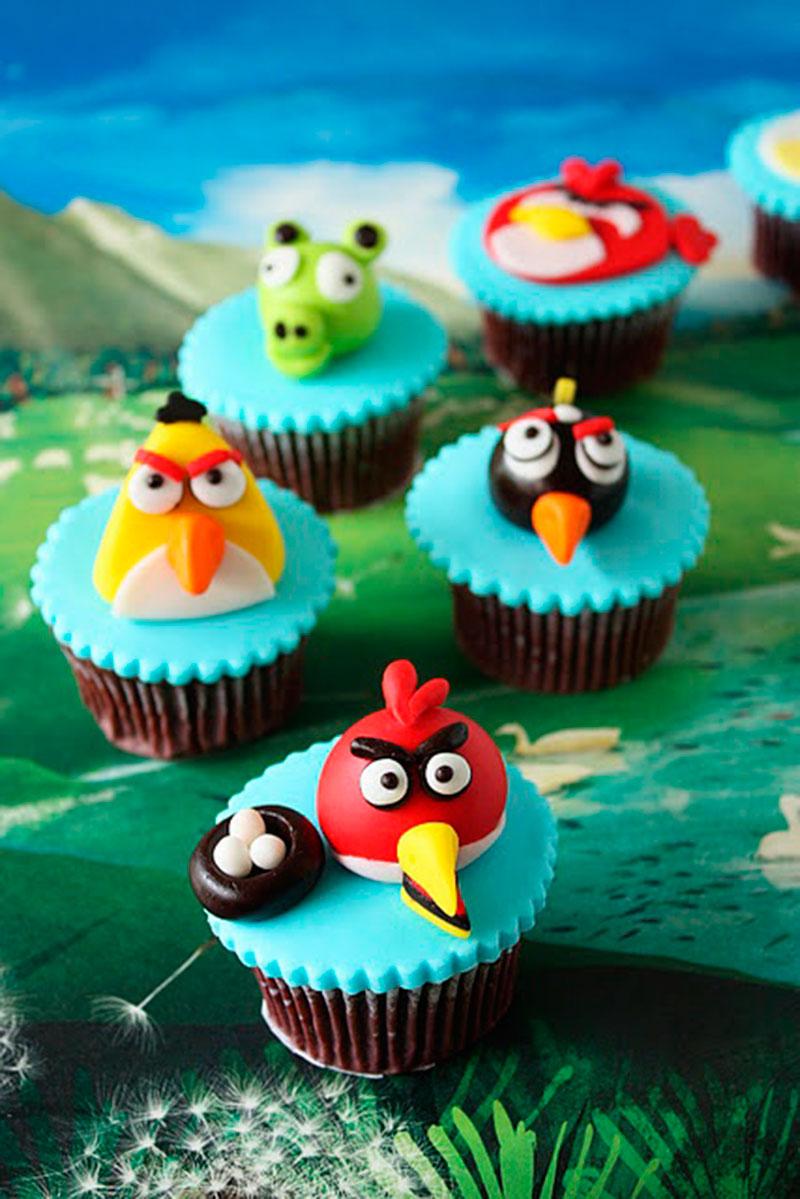 cupcakes birds