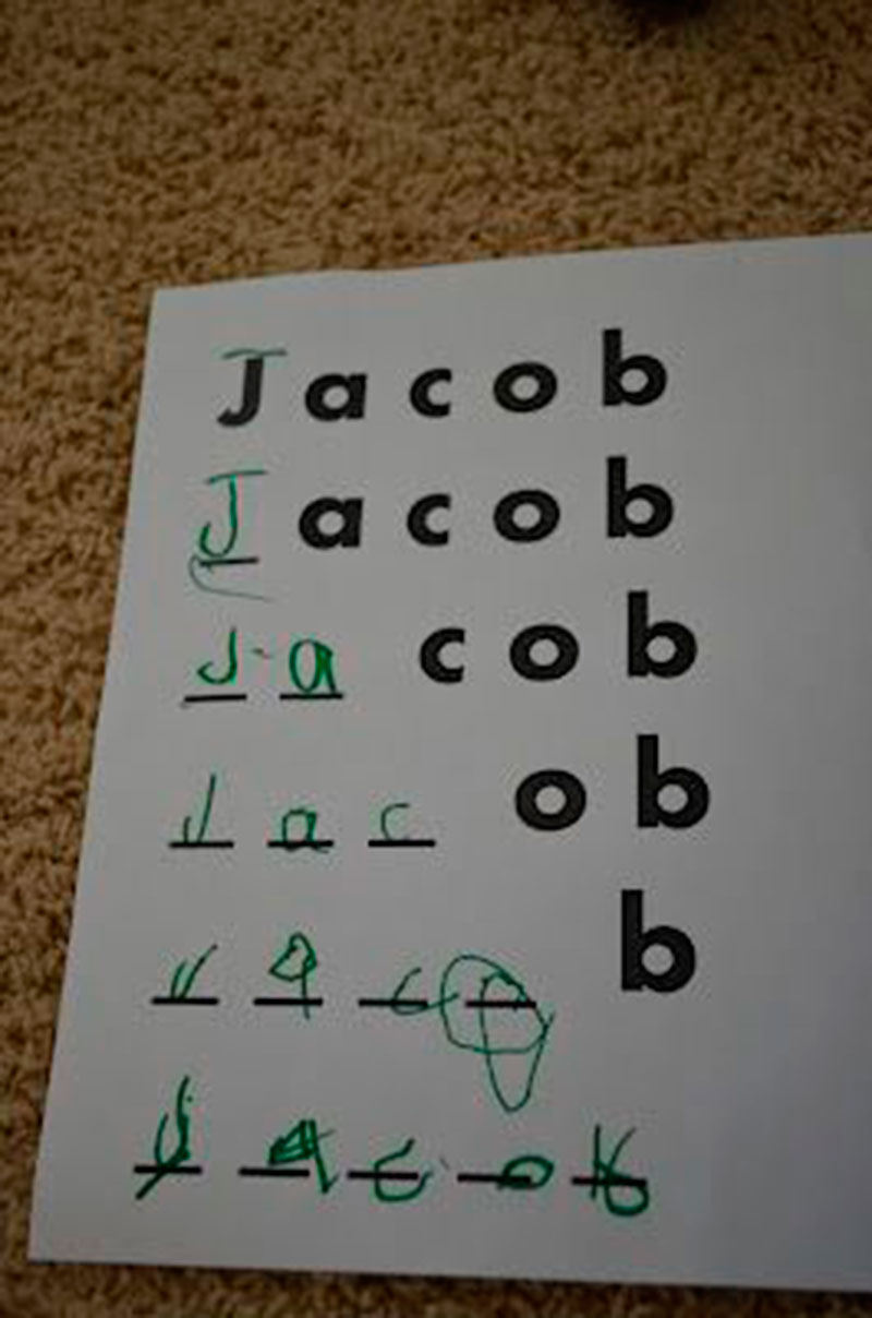 escrever nome