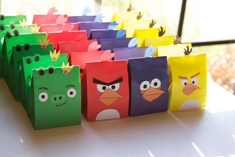 saquinho festa Angry birds