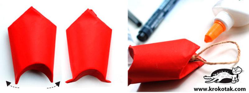 Papai Noel com rolo de papel higienico-3